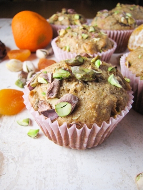 Healthy Orange-Date-Apricot Muffins {Katie at the Kitchen Door}