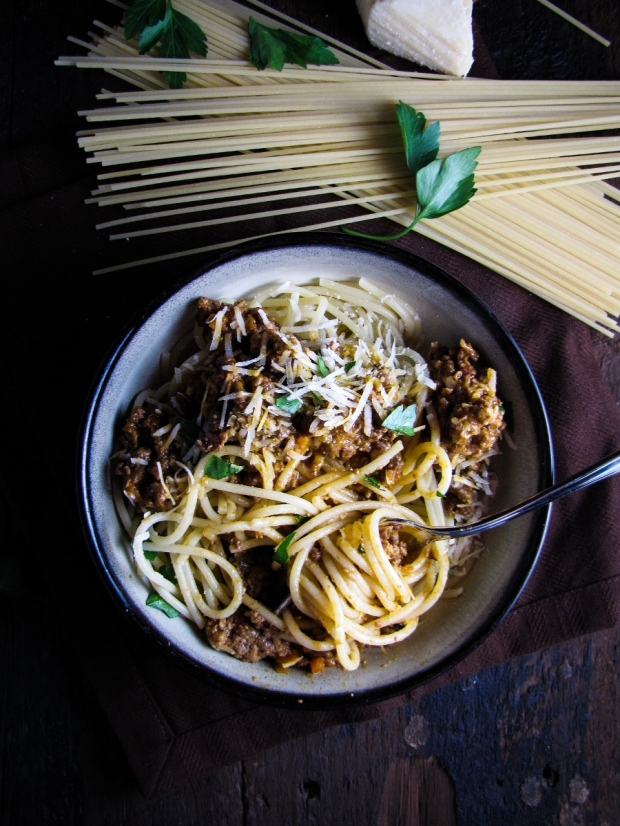 Classic Spaghetti Bolognese {Katie at the Kitchen Door}
