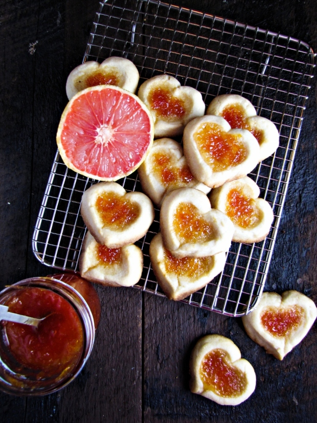 Grapefruit and Ginger Thumbprint Cookies {Katie at the Kitchen Door}