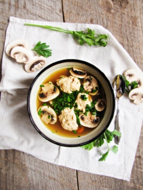 Chicken Dumpling Soup {Katie at the Kitchen Door}