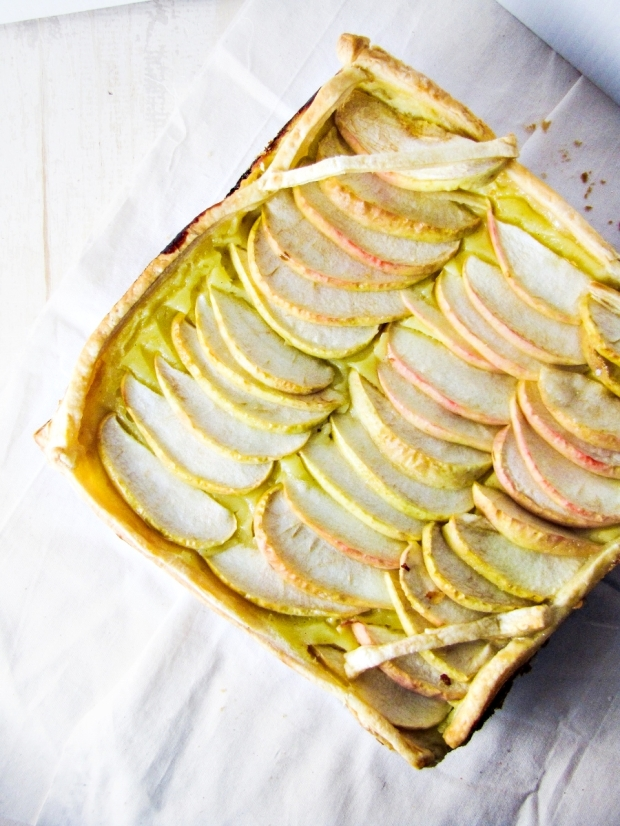 Italian Apple Custard Tart {Katie at the Kitchen Door}