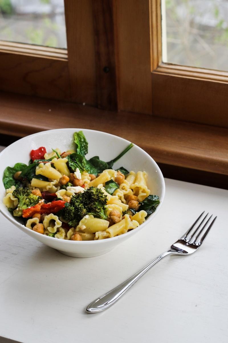 ... Roasted Vegetable Mediterranean Pasta Salad | Katie at the Kitchen