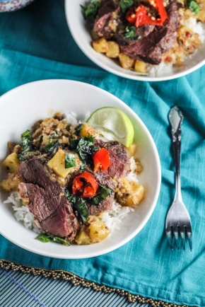Duck, Pineapple, and Coconut Curry {Katie at the Kitchen Door}