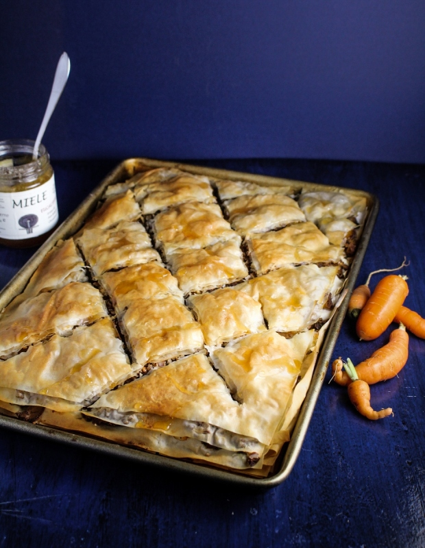 Carrot, Almond, and Feta Baklava {Katie at the Kitchen Door}